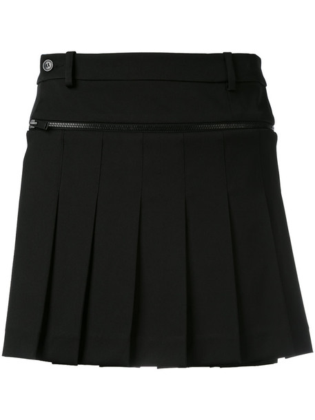 A.F.VANDEVORST skirt mini skirt mini pleated women spandex black wool