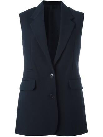 vest blue jacket