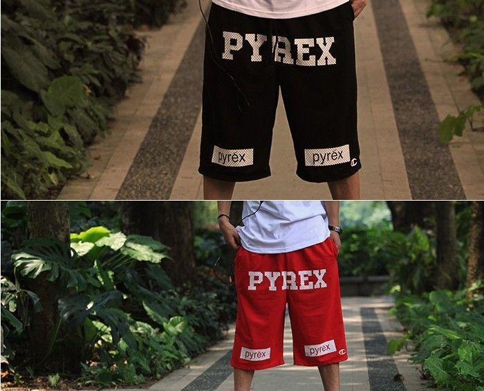 Cotton Pyx Pyrex Vision 23 Basketball Gym Shorts Casual Canye HBA A$AP Black Red | eBay