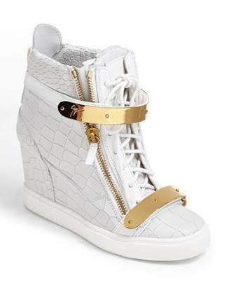 'lorenz' high top wedge sneaker