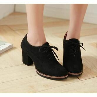 shoes black heels low heel block heels chunky heels black heels pumps black boots