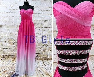 dress prom dress gradient prom dress bridesmaid