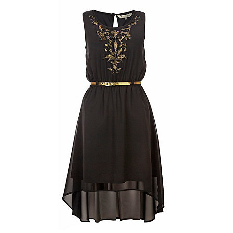 Yumi Baroque dip hem dress- at Debenhams.com