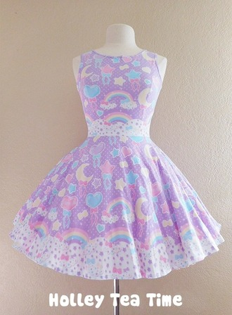 dress kawaii pastel rainbow cute