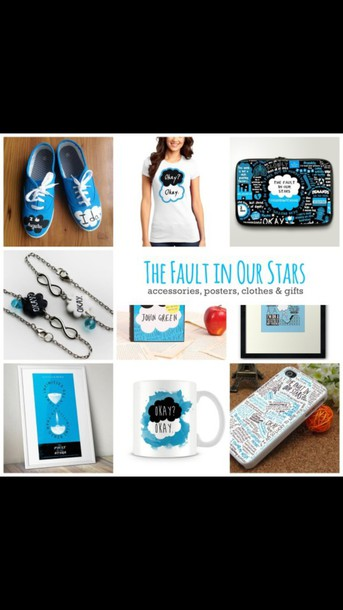 shirt the fault in our stars the fault in our stars vans laptop bag bracelets