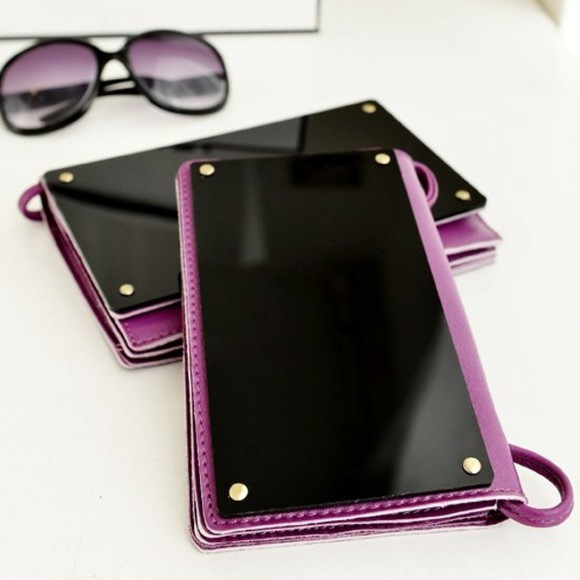 bag mirror sunglasses girly summer outfits streetstyle fashion vintage vogue purple