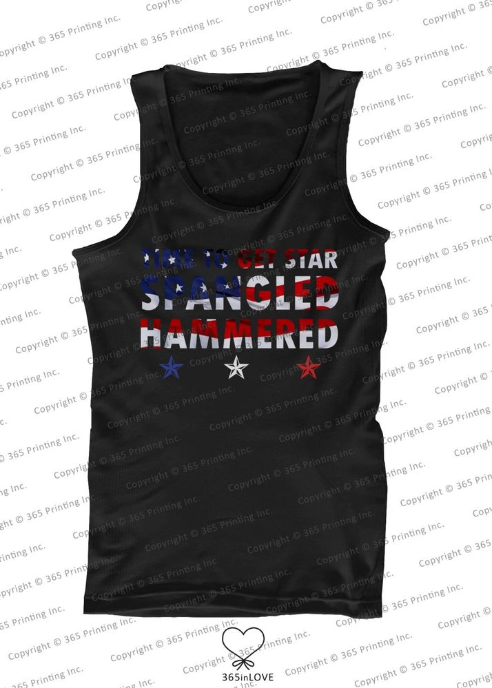 July 4th Red White and Blue American Flag Star Spangled Hammered Men's Tank Tops | eBay