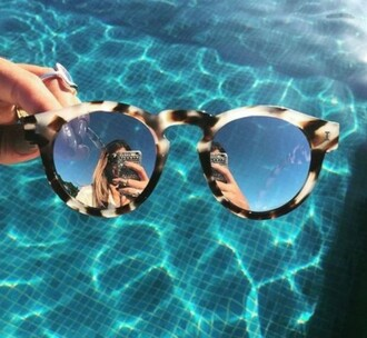 sunglasses glasses water pool party summer accessory gold weheartit photography