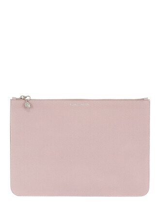 pouch leather pink bag