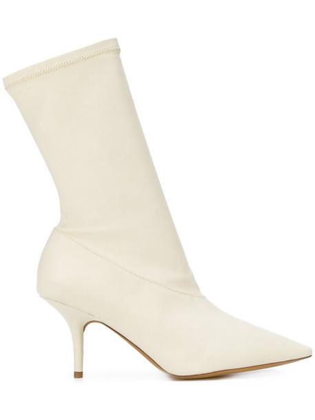yeezy women leather nude shoes
