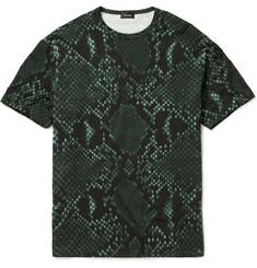 Jil Sander - Python Print Cotton-Blend T-Shirt|MR PORTER