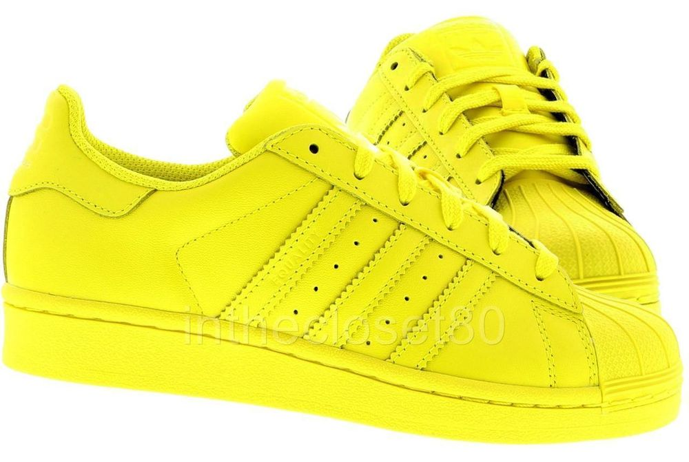 ADIDAS SNEAKERS – SHELL TOES – LACE UP – SUPER SHELL – PHARRELL SUPERSTAR