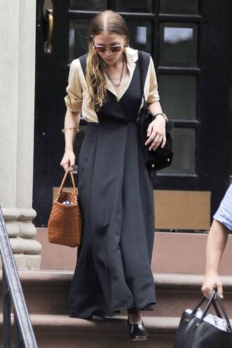 dress shirt ashley olsen wrap dress maxi dress