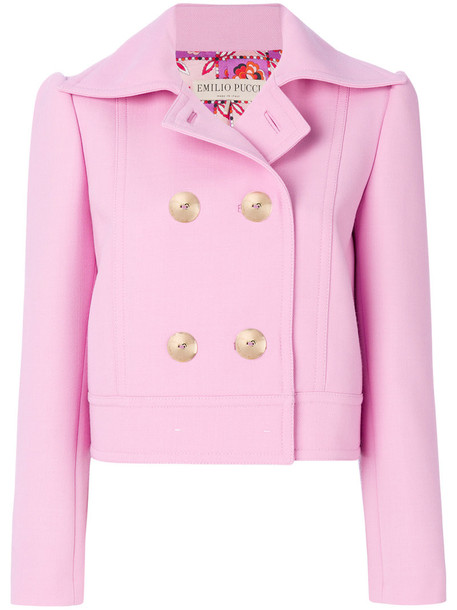 Emilio Pucci jacket embellished jacket women embellished wool purple pink