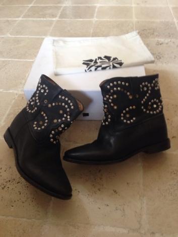 Bottines & low boots à compensés ISABEL MARANT 39 noir neuf avec étiquette