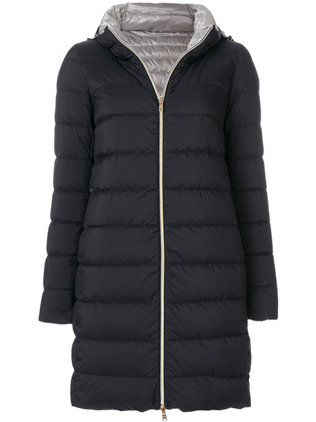 Herno coat women cotton black