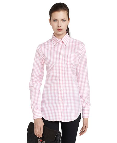 Gingham Button-Down Shirt - Brooks Brothers