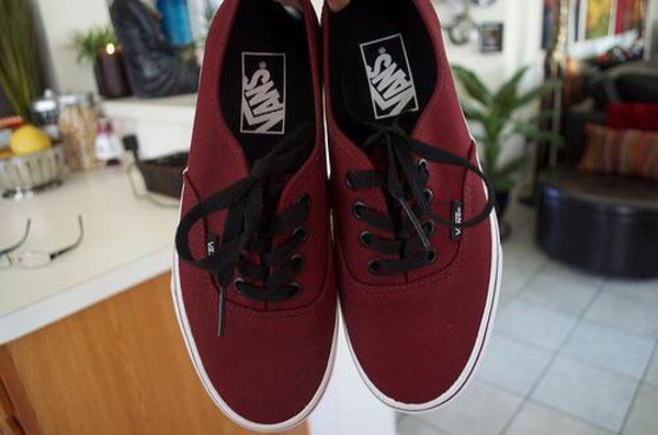 shoes vans vans burgyndy