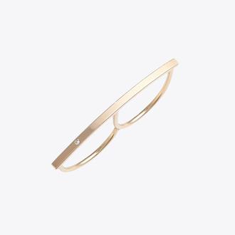 jewels gold ring minimalist ring minimalist jewelry double finger ring