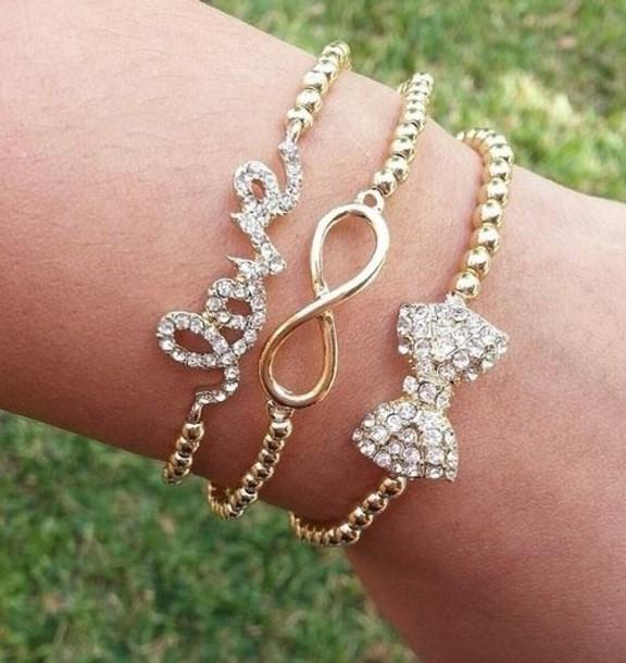 jewels infinity bracelet bow bracelet bracelets