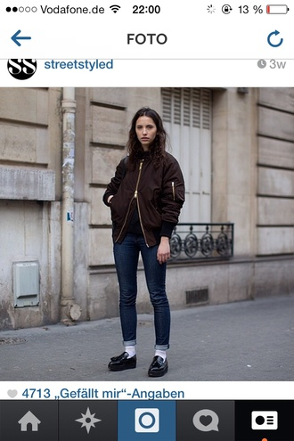 jacket bomber jacket tumblr instagram model burgundy hip hop loafers flatforms boyish french girl style