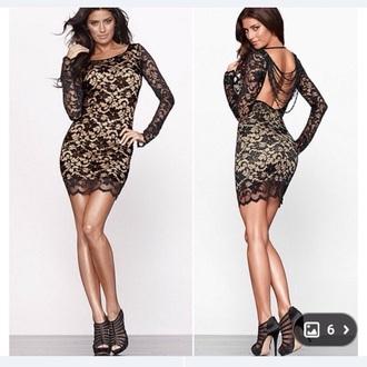 dress lace dress black dress black lace dress tan dress open back dresses cocktail dresses cute dress