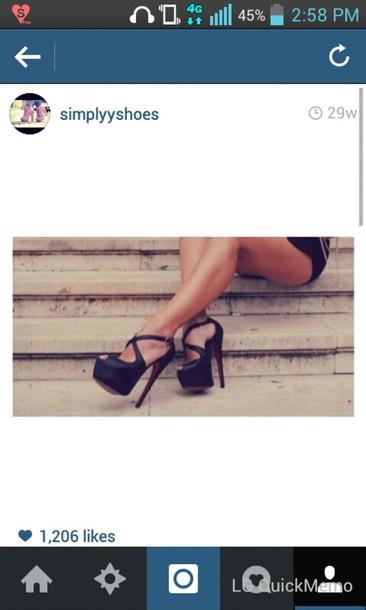 shoes black high heels cute high heels
