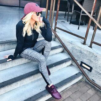 gbo fashion blogger top leggings shoes hat cap sportswear sneakers sports leggings