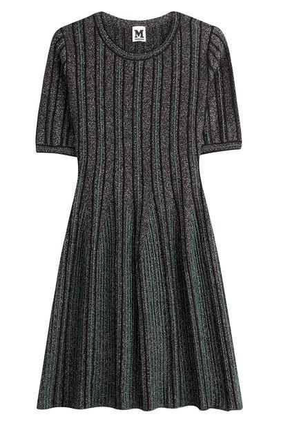 M Missoni dress knit metallic green