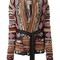 Laneus intarsia belted cardi-coat, women's, size: 42, wool/alpaca/angora/viscose