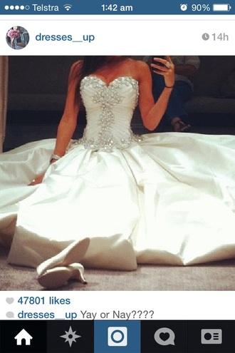 dress debs dress wedding dress diamonds