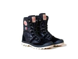 shoes palladium black oversized explorer style