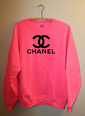 sweater,pink,chanel,nice,pretty