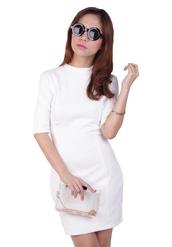 white dress,office outfits,office dress,bodycon dress,mockneck,mock neck dress,radpopsicles,rad,white bodycon