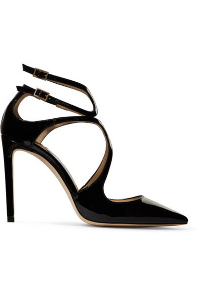 Jimmy Choo 100 pumps leather black shoes