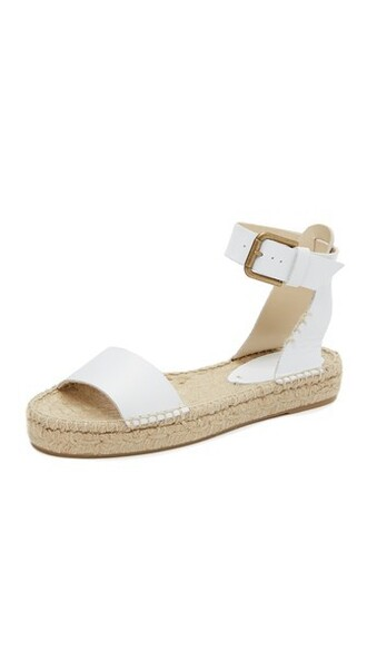 open sandals white shoes