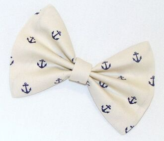 hair accessory nautical hair bow anchor sailor