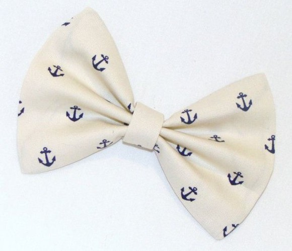 hair bow hair accessories nautical anchor