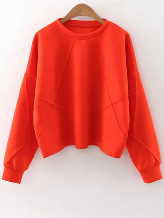sweater fall outfits orange long sleeves fashion neon trendy casual zaful
