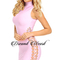 Side lace up bandage dress pink