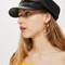 Slouchy baker boy hat - black