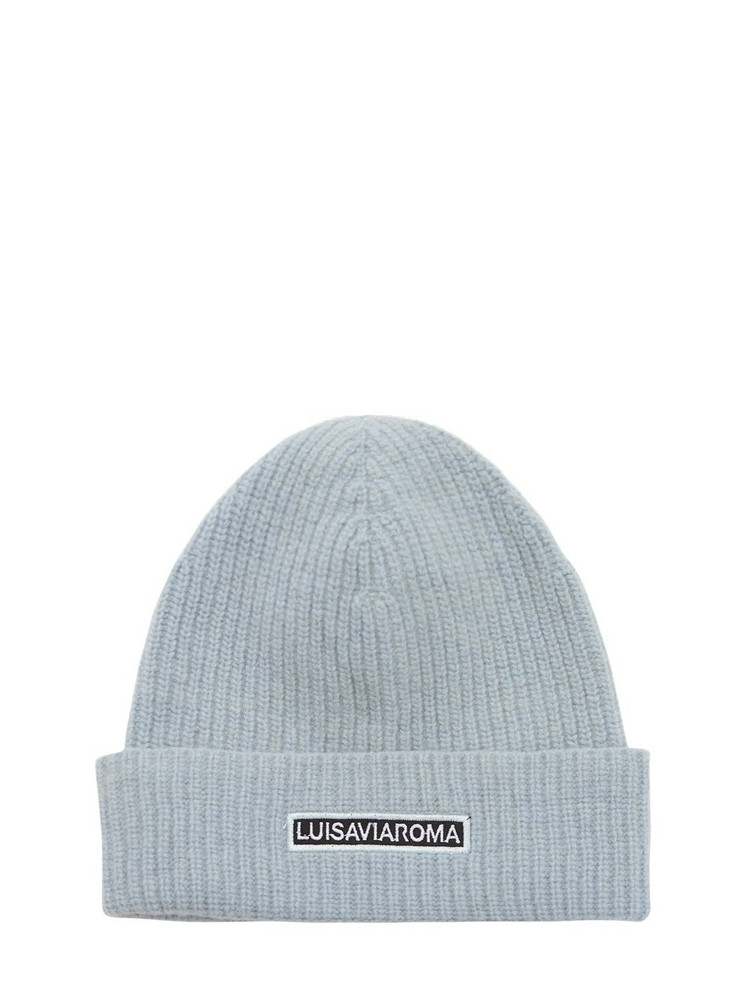 LUISA VIA ROMA Lvr Logo Wool Beanie in blue