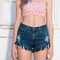 Distressed denim shorts - pop sick vintage