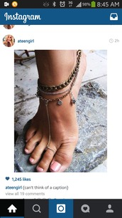 jewels,anklet with toe ring,jewelry,pretty