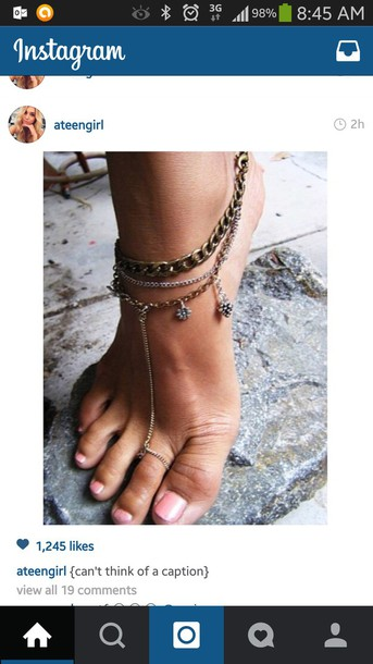 jewels anklet with toe ring jewelry pretty