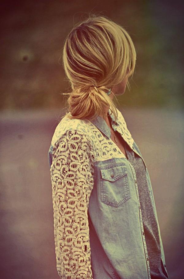 blouse fall outfits demin denim shirt