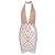 Nude Geometry Design Lace Dress