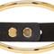 Isabel marant black and gold leather bracelet