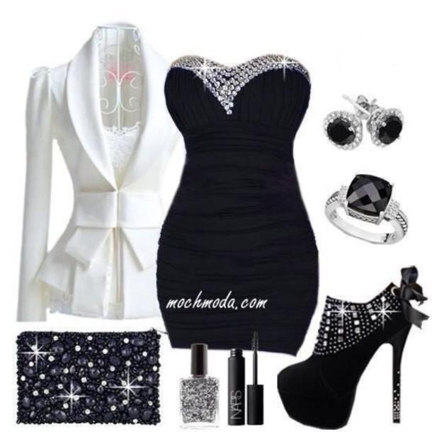 Little Black Dresses with Bling