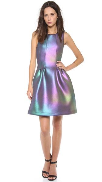 Cynthia rowley iridescent scuba dress